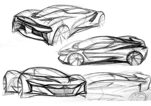 汽车手绘-花瓣网|陪你做生活的设计师