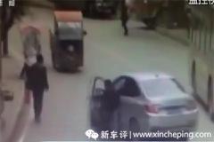 【话题】新手司机竟然打开车门用双脚刹车?