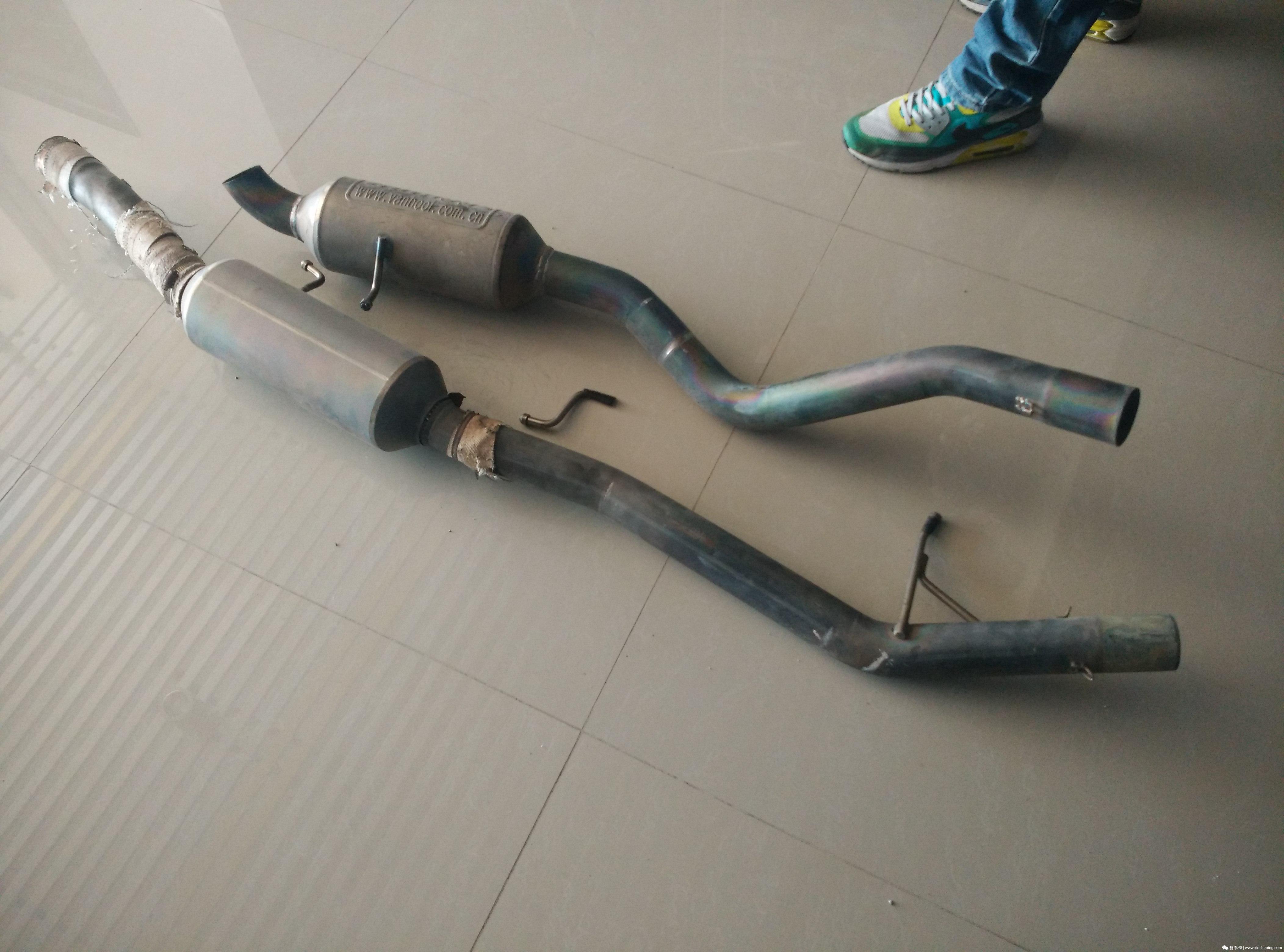 致炫赛车更换新的排气管