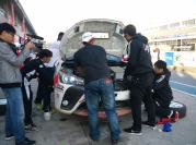 致炫赛车赛前试车遭遇油冷爆裂