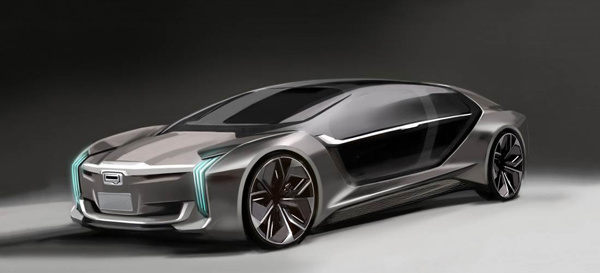 向电动车转型?观致Model K-EV概念车预告图