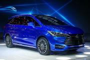 上海车展重头新车实拍之比亚迪宋7座版:居然不是SUV