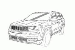 或为新大瓦格尼 Jeep全新7座SUV专利图