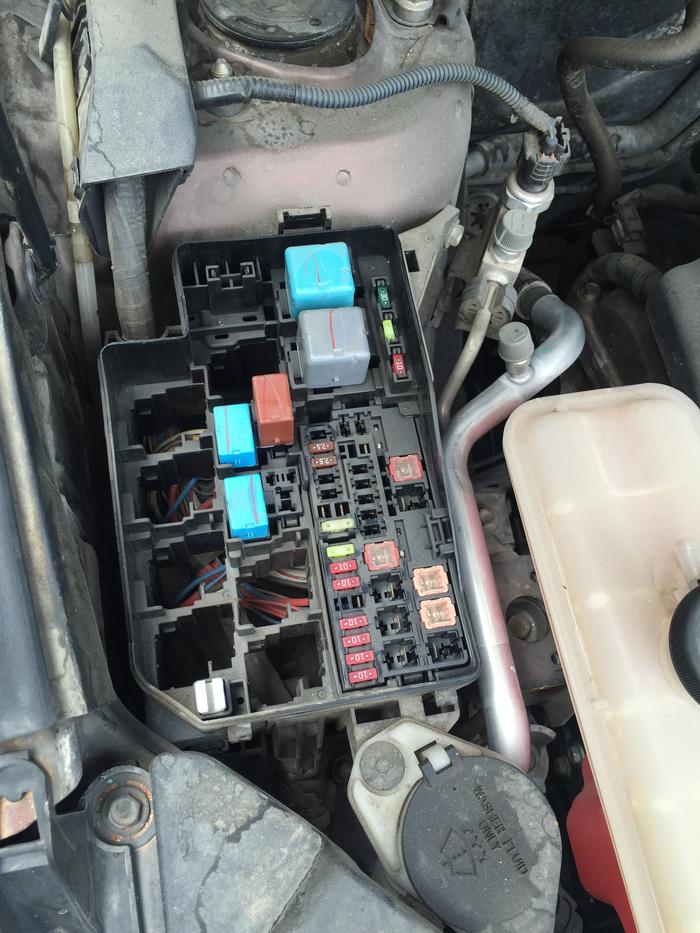 丰田rav4保险盒电路图