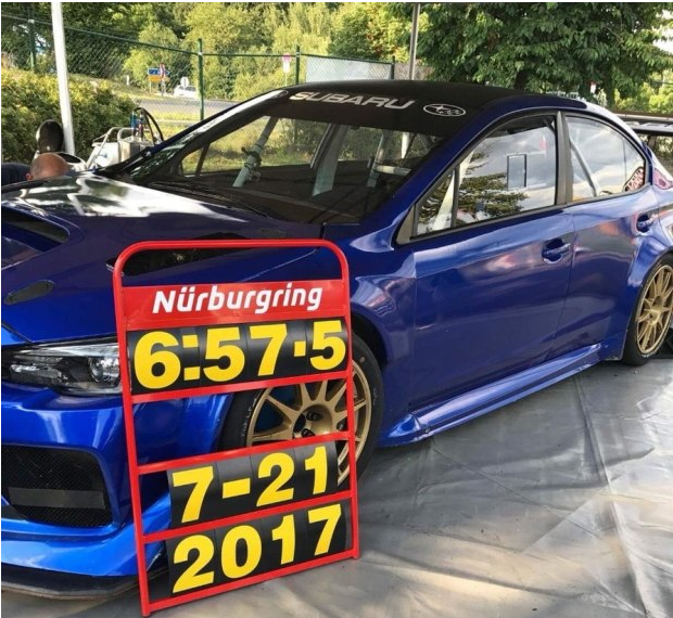 斯巴鲁WRX STI创纽北四门轿车圈速纪录
