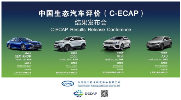 2018年第二批C-ECAP成绩:2款车获白金牌