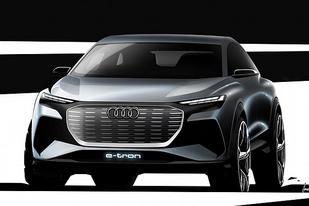 奥迪Q4纯电动车概念图发布,将于日内瓦车展亮相