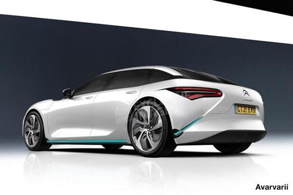 雪铁龙全新纯电动大型轿车渲染图曝光,或于2021年亮相