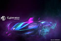 定位双门敞篷纯电跑车 名爵Cyberster Concept设计图