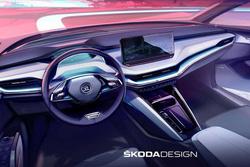 全新简洁风造型设计,斯柯达公布新车ENYAQ内饰官图