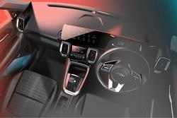 全新内饰设计惹人爱,起亚公布小型SUV Sonet内饰渲染图