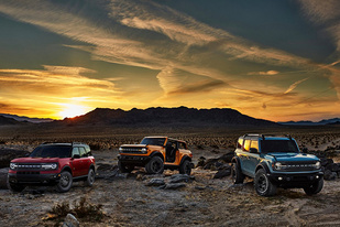 推三款车型满足不同需求,福特发布全新一代Bronco官图