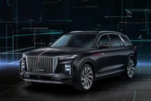不怒自威,红旗发布中大型纯电SUV E-HS9新车官图