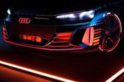 1:1还原概念车设计,奥迪发布e-tron GT新车预告图