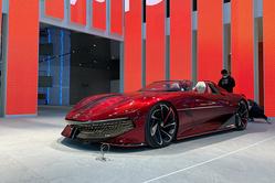 名爵纯电超跑概念车MG Cyberster正式亮相上海车展